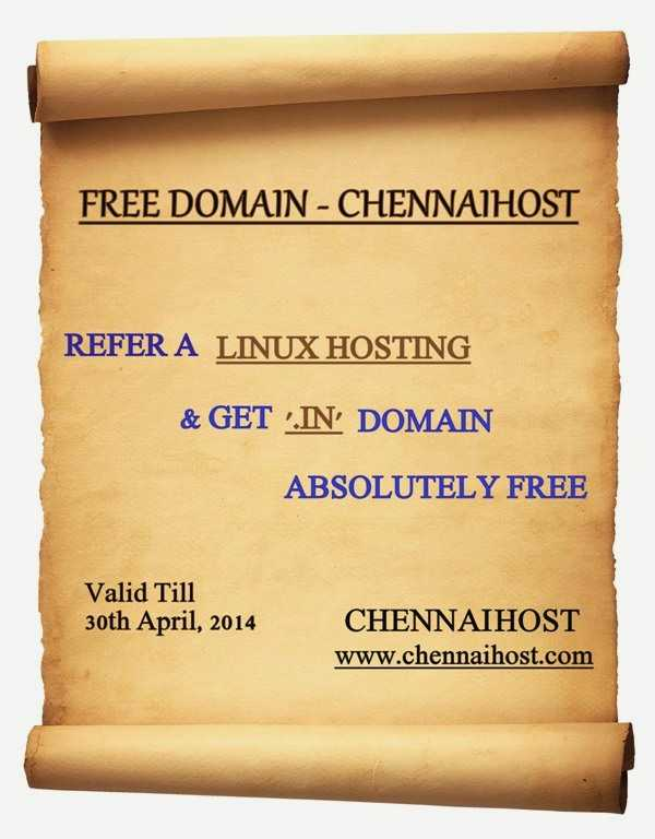 Refer a Hosting & Get '.in' Domain Free